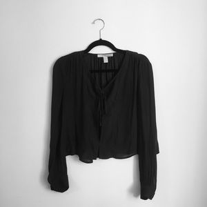Forever 21 charcoal blouse size xs